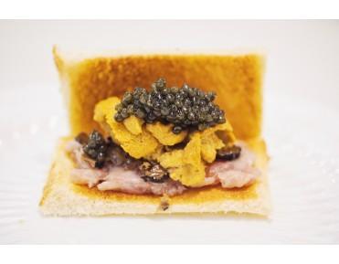 Uni, Negitoro, Caviar & Truffle Toast Sandwich