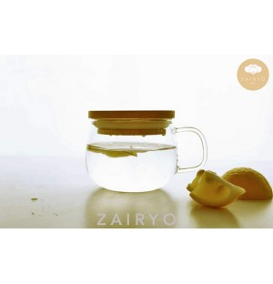 Zairyo Glass Cup with Wooden Lid